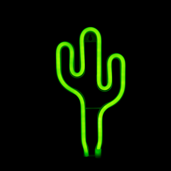 LED Neon Light Cactus Green