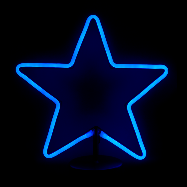 LED Neon Light Star Blue