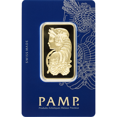 Buy 1 Oz Gold Bar PAMP Suisse Lady Fortuna Series Obverse Buy 1 Oz Gold Bar