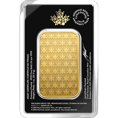 Buy 1 Oz Gold Bar Royal Canadian Mint Reverse Buy 1 Oz Gold Bar RCM