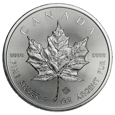 Buy Backdated 1 Oz Silver Coin Royal Canadian Mint Maple Leaf Silver Buy 1 Oz Maple Silver RCM Reverse