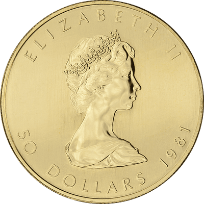 Buy 1 Oz Gold Maple Leaf Coin Royal Canadian Mint Reverse - Buy Cheap Gold Coin Canada
