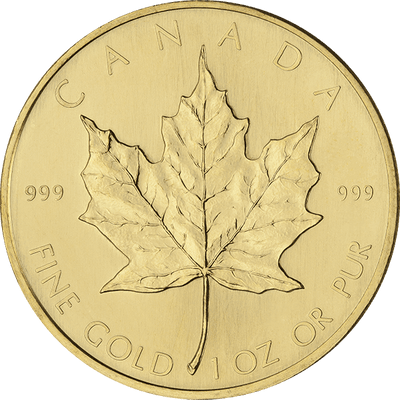 Buy 1 Oz Gold Maple Leaf Coin Royal Canadian Mint Reverse - Buy Cheap Gold Maple Canada