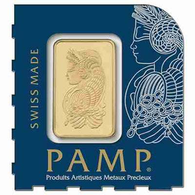 25g Gold Sheet Bar - Lady Fortuna - 25 x 1g Bars .9999 Au - PAMP Suisse - Front