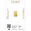 1 g Gold  Bar - Lady Fortuna Series - .9999 Au - Pamp Suisse