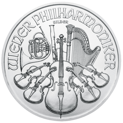 Buy 1 Oz Silver Coin Austrian Mint Philharmonic Silver Buy 1 Oz Silver Philharmonic Reverse 2021