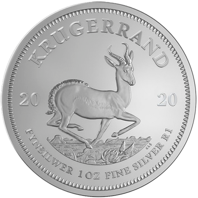 Buy 1 Oz Silver Coin South African Mint Krugerrand Silver Buy 1 Oz Silver Krugerrand Reverse