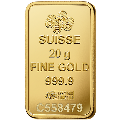 Buy 20 Gram Gold PAMP Suisse Bar Lady Fortuna Series