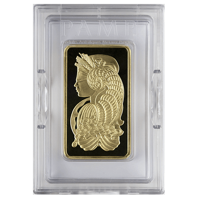 Buy 10 Oz Gold Bar PAMP Suisse Lady Fortuna Series Obverse Buy 10 Oz Gold Bar