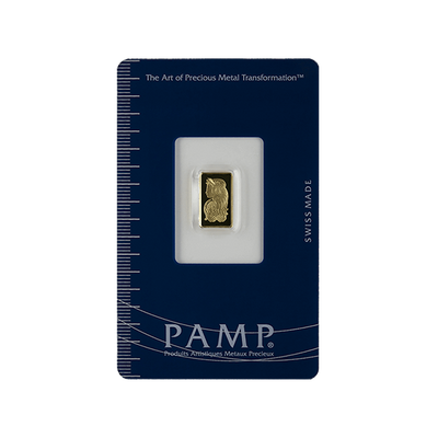 Buy 1 Gram Gold PAMP Suisse Bar Lady Fortuna Series 1g PAMP