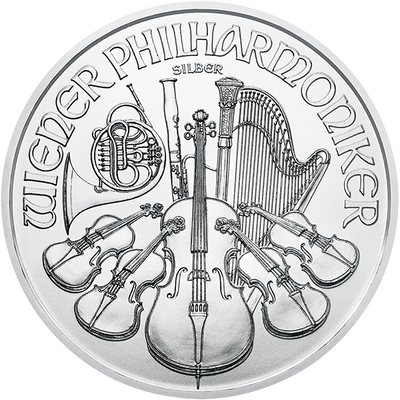 Buy 1 Oz Silver Coin Austrian Mint Philharmonic Silver Buy 1 Oz Silver Philharmonic Obverse