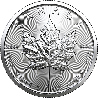 Buy 1 Oz Silver Coin Royal Canadian Mint Maple Leaf Silver Buy 1 Oz Maple Silver RCM Reverse