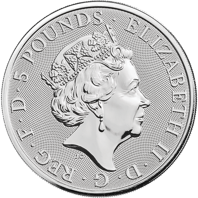 Buy 2 Oz Silver Coin Royal Mint Falcon of the Plantagenets Silver Buy 2 Oz Falcon Coin RM Obverse