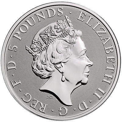 Buy 2 Oz Silver Coin Royal Mint Yale of Beaufort Silver Buy 2 Oz Yale Coin RM Obverse