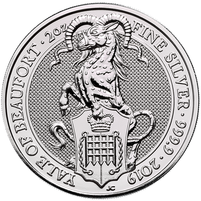 Buy 2 Oz Silver Coin Royal Mint Yale of Beaufort Silver Buy 2 Oz Yale Coin RM Reverse