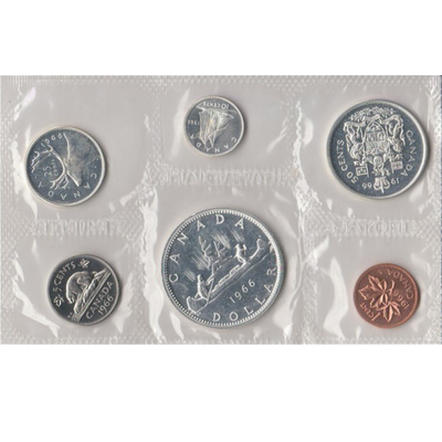 1966 Buy Silver Canada Proof Like Set 80% Silver Dollar Canadian 0.800 Silver Dollar Coin Face Value 0.800 Proof Like Set