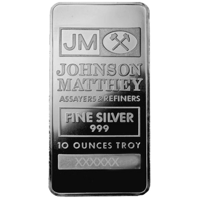 Buy 10 Oz Silver Bar Johnson Matthey Bar 10 Oz Jm Bar Silver Buy 10 Oz Silver Bar