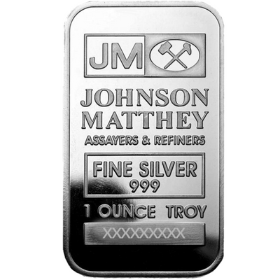 Buy 1 Oz Silver Bar Johnson Matthey Bar 1 Oz Jm Bar Silver Buy 1 Oz Silver Bar