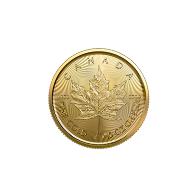 Buy 1/10th Oz 2019 Gold Maple Leaf Coin Royal Canadian Mint Reverse