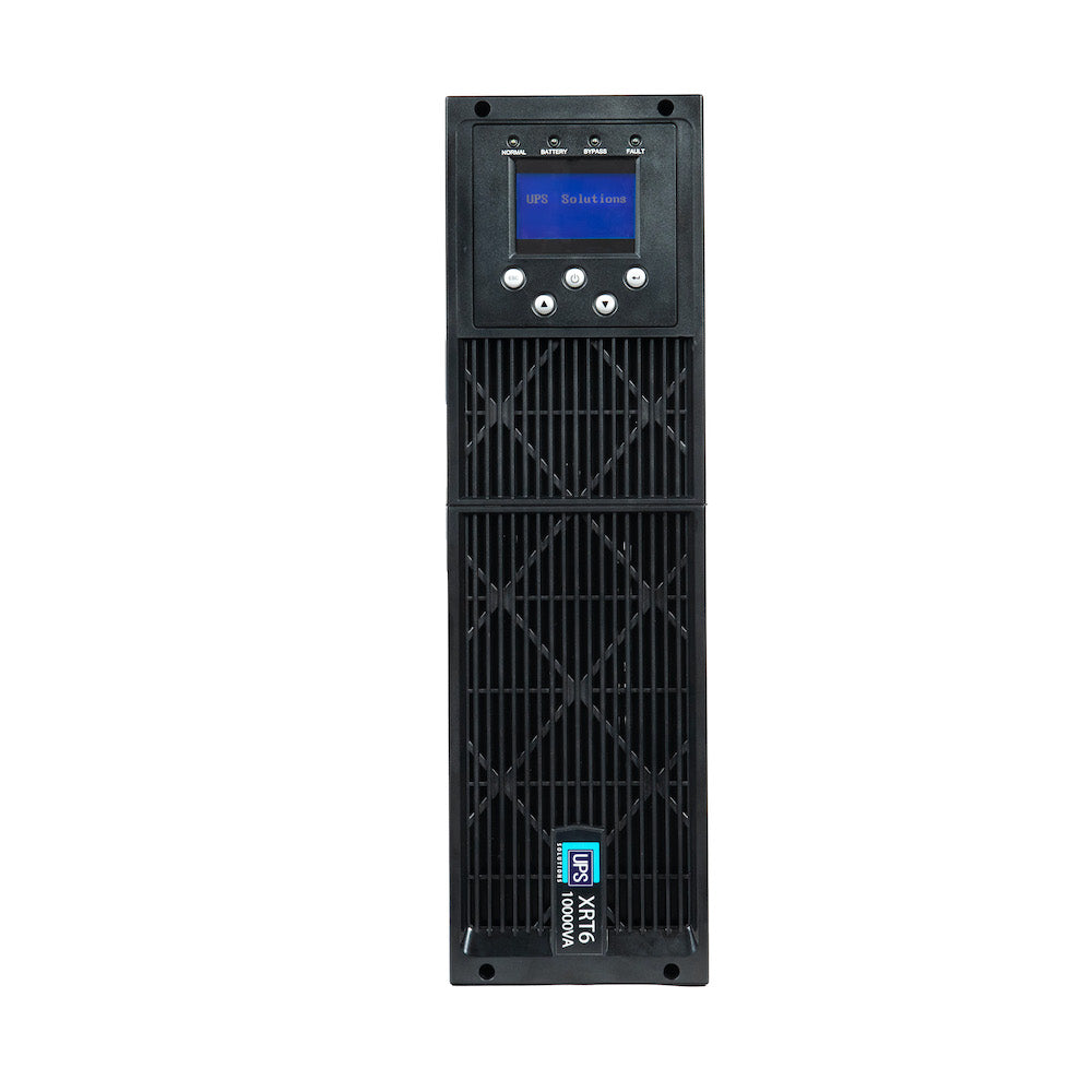UPS Solutions XRT6 Online UPS 10KVA w/ Long Life Battery 230V Rack/Tower 6U w/SNMP XRT6-10000L