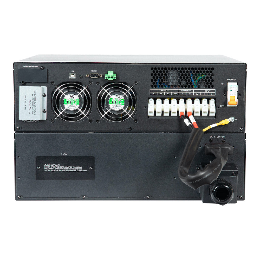 UPS Solutions XRT6 Online UPS 6KVA w/ Long Life Battery 230V Rack/Tower 6U w/SNMP XRT6-6000L
