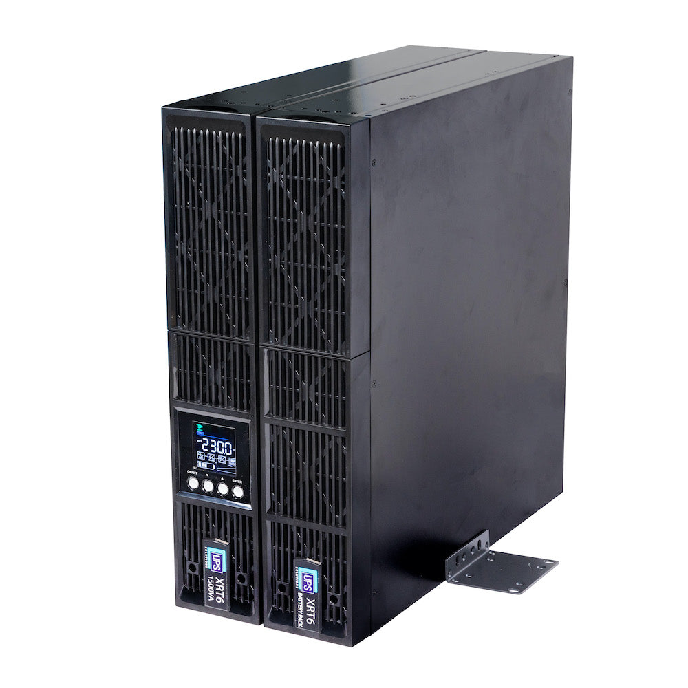 UPS Solutions XRT6 Online UPS 1.5KVA w/ Long Life Battery 230V Rack/Tower 2U XRT6-1500L