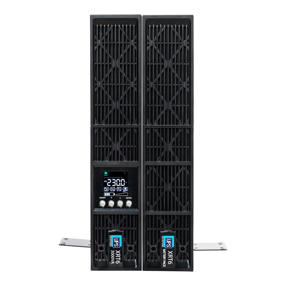 UPS Solutions XRT6 Online UPS 3KVA w/ Long Life Battery 230V Rack/Tower 2U XRT6-3000L
