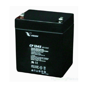 VISION CP SERIES - CP1245 - 12V 4.5AH Battery CP1245