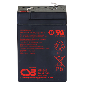 GP Series - GP645 - 6V 4.5AH Battery GP645