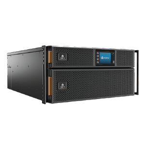 Vertiv Liebert GXT5 On-Line 8kA 230V LCD PF1.0 5U Extended Run Rack/Tower, Rail Kit and Webcard Bundled GXT5-8000IRT5UXLN