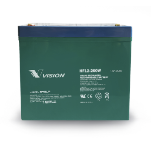 VISION - HF12260 - AGM BATTERY 12V 55AH
