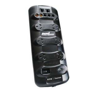 POD, Rack and Data protectors 6 Way Power Filter Board with phone, network and coax protection POD