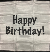 "Happy Birthday Silk Set: 18"" B/W and 18"" Color"
