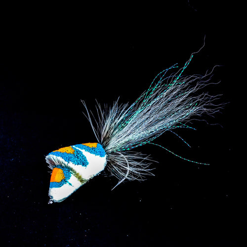 Deerhair diver (white, orange, blue)