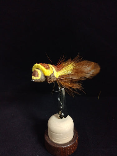 1/0 Diver Brown/Yellow, hackle- tail