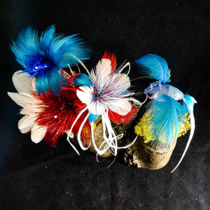 Patriotic Hummingbird Display