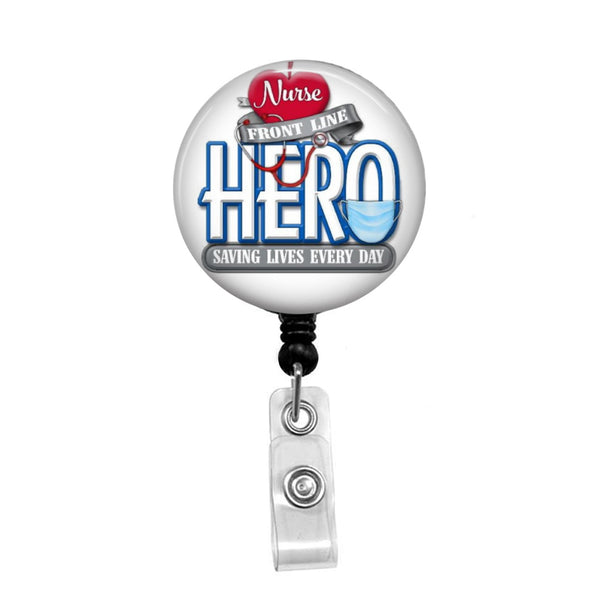 Nurse Hero - Retractable Badge Holder - Badge Reel - Lanyards - Stethoscope Tag