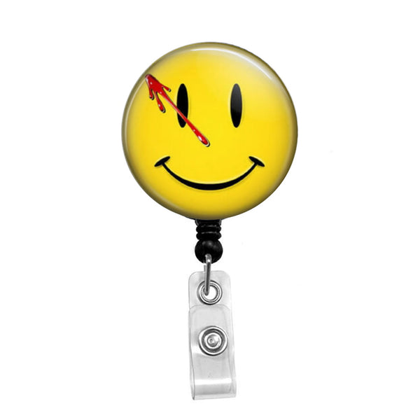 Watchmen Smiley Face - Retractable Badge Holder - Badge Reel - Lanyards - Stethoscope Tag