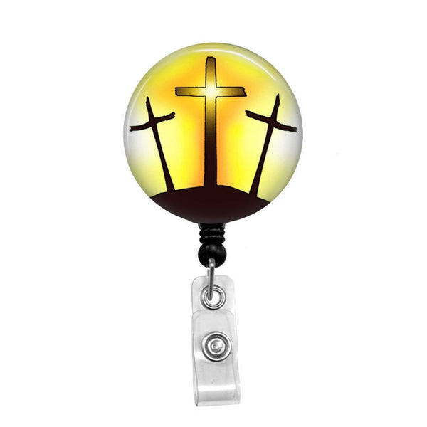 Calvary Cross - Retractable Badge Holder - Badge Reel - Lanyards - Stethoscope Tag