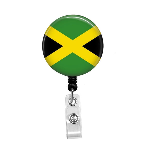 Jamaican Flag - Retractable Badge Holder - Badge Reel - Lanyards - Stethoscope Tag