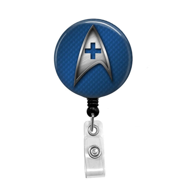 Star Trek, Medical Badge - Retractable Badge Holder - Badge Reel - Lanyards - Stethoscope Tag