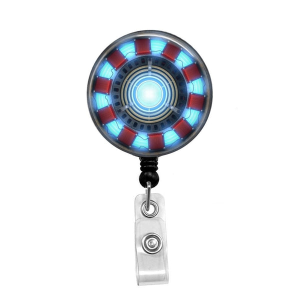 Iron Man Arc Reactor - Retractable Badge Holder - Badge Reel - Lanyards - Stethoscope Tag