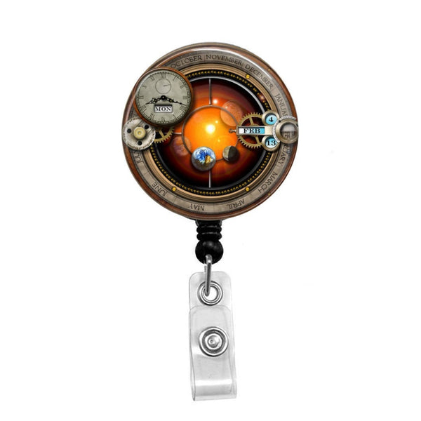 Steampunk - Retractable Badge Holder - Badge Reel - Lanyards - Stethoscope Tag