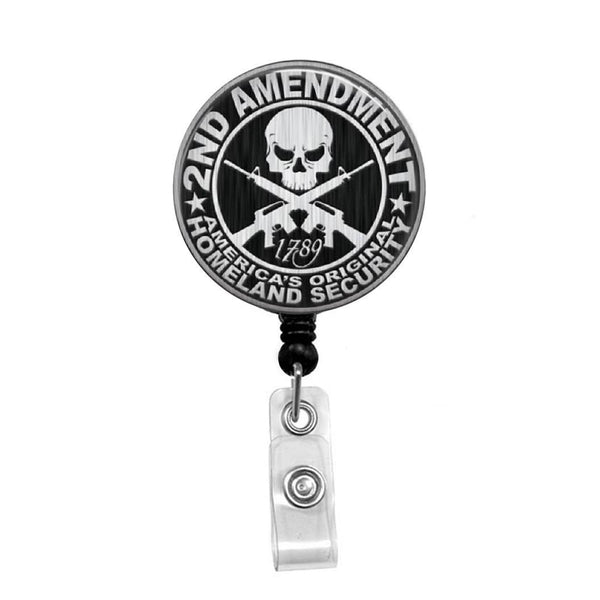 2nd Amendment, Homeland Security - Retractable Badge Holder - Badge Reel - Lanyards - Stethoscope Tag