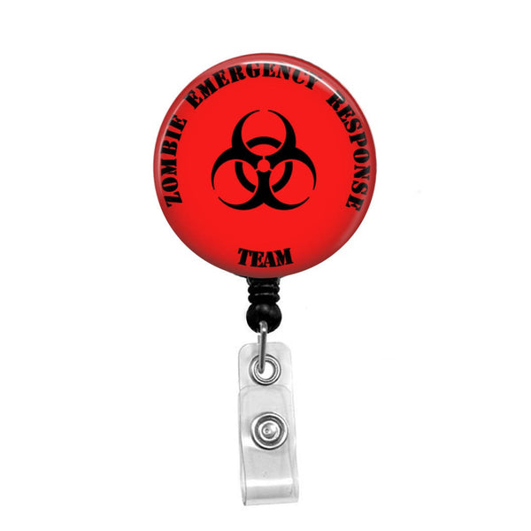 Zombie Emergency Response Team - Retractable Badge Holder - Badge Reel - Lanyards - Stethoscope Tag
