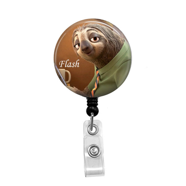 Zootopia's Flash - Retractable Badge Holder - Badge Reel - Lanyards - Stethoscope Tag