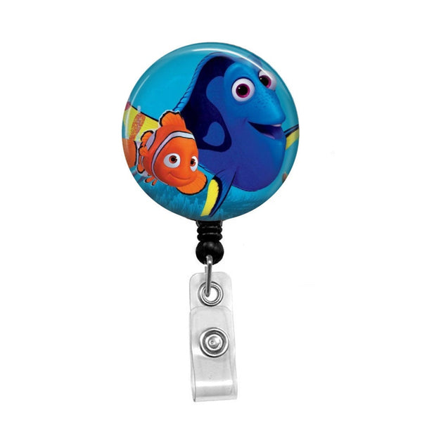 Nemo & Dory from Finding Nemo - Retractable Badge Holder - Badge Reel - Lanyards - Stethoscope Tag