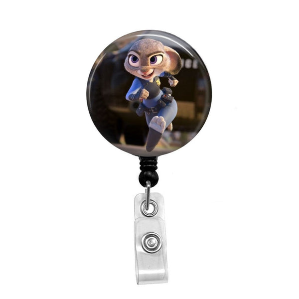 Zootopia's Lt. Judy Hopps- Retractable Badge Holder - Badge Reel - Lanyards - Stethoscope Tag