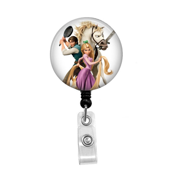 Disney's Tangled  - Retractable Badge Holder - Badge Reel - Lanyards - Stethoscope Tag