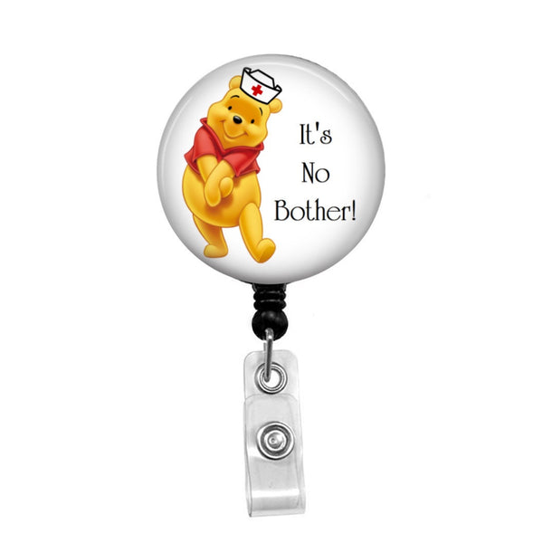 Winnie The Pooh Nurse - Retractable Badge Holder - Badge Reel - Lanyards - Stethoscope Tag